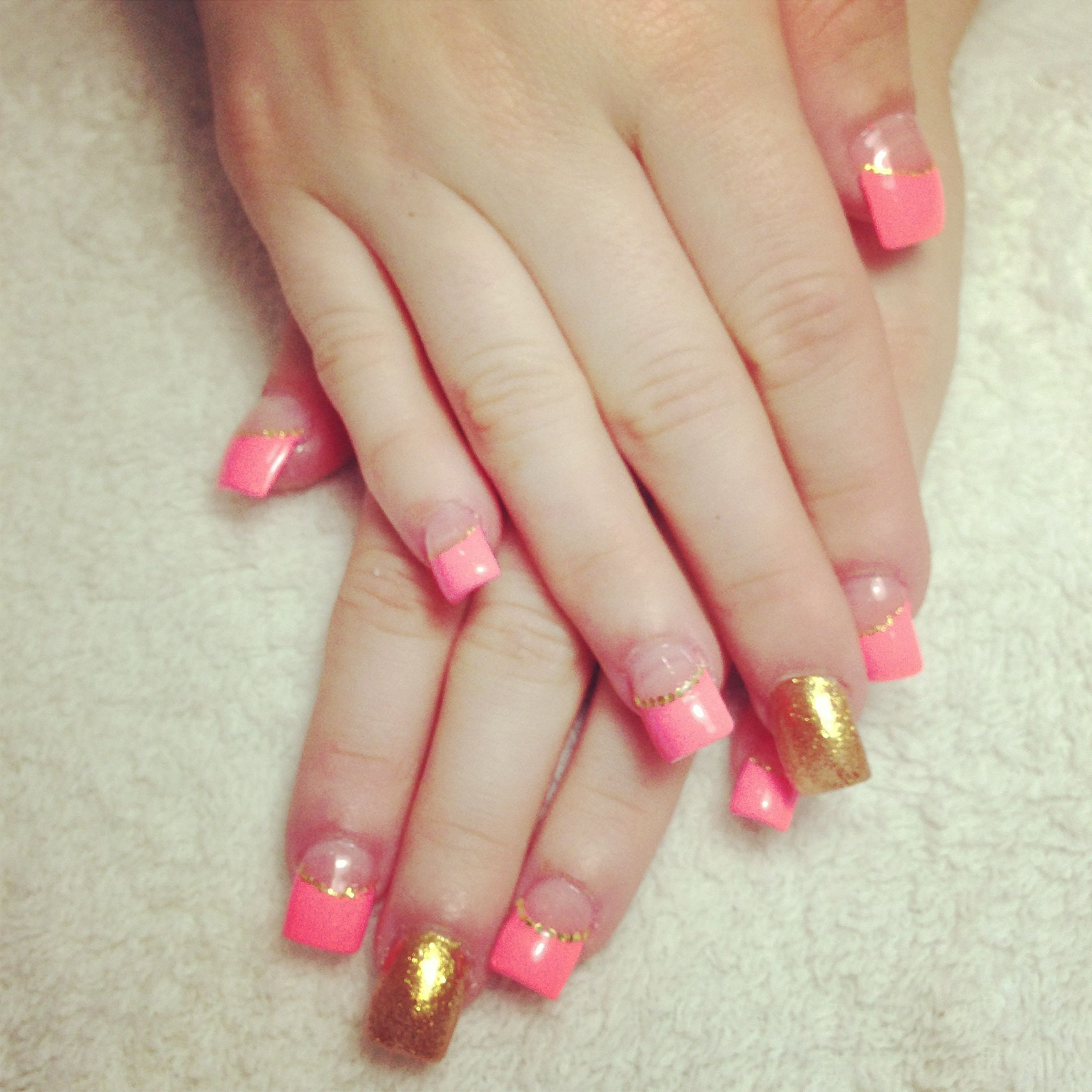 French nails design | French nail designs, Glow nails ...