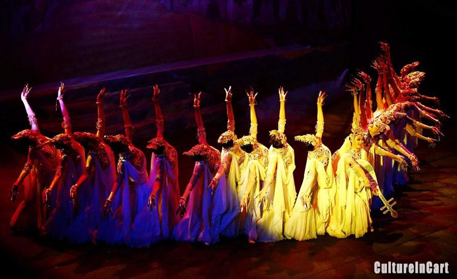 Dancers Answer The Curtain Call After The Performance Of The