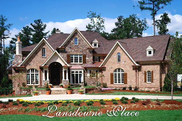 Luxury european manor house plan the lansdowne place for Garrell and associates house plans