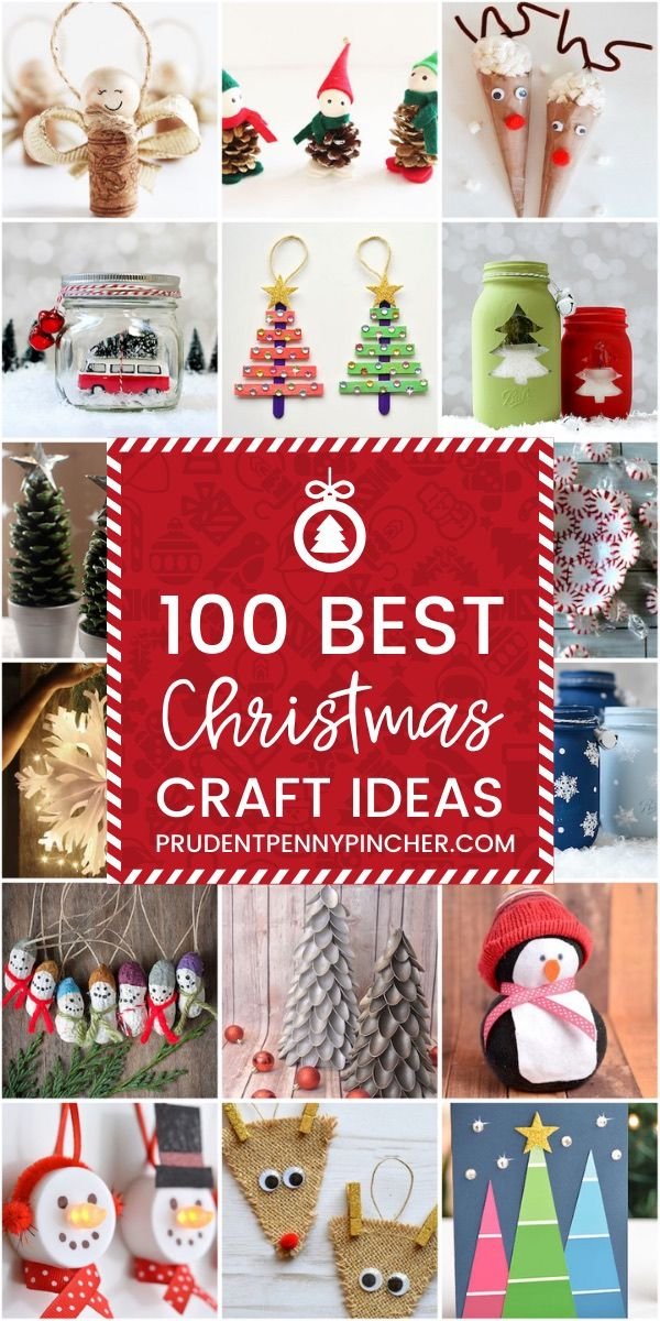 100 Best Christmas Crafts - Get in the holiday spirit with these DIY Christmas crafts for kids and adults. Whether you want to sell these Christmas crafts, use them as Christmas decor or give them as gifts, there are craft ideas for everyone.