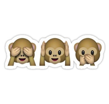 Monkey Emoji See No Evil Hear No Evil Speak No Evil Stickers Monkey Emoji Cute Emoji Wallpaper Funny Stationery