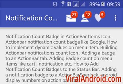 Android Example How to Add Badge (Notification Count) to