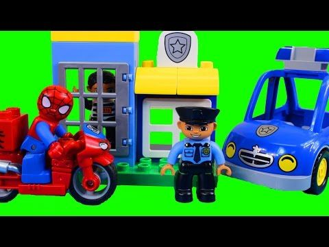 Lego Duplo Spider Man Bike Workshop And Duplo My First Police Set