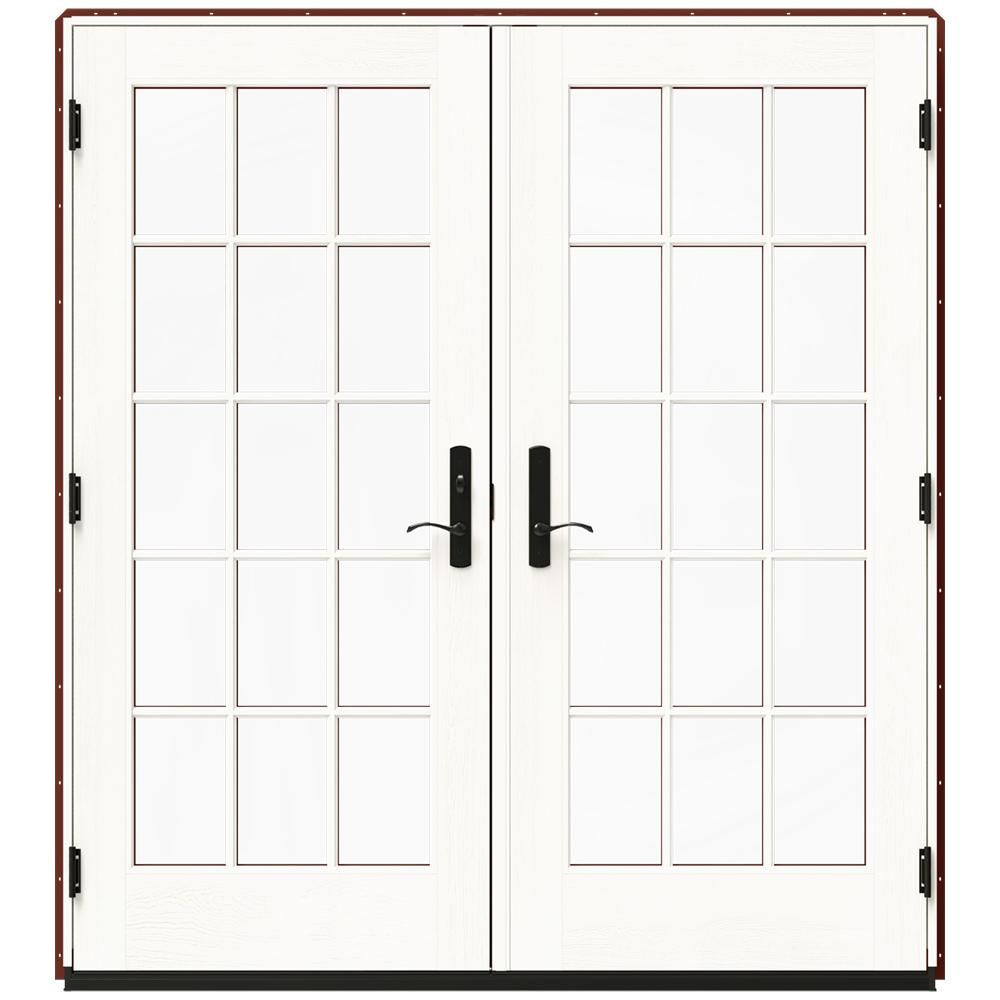 Jeld Wen 72 In X 80 In W 4500 White Clad Wood Right Hand 15 Lite