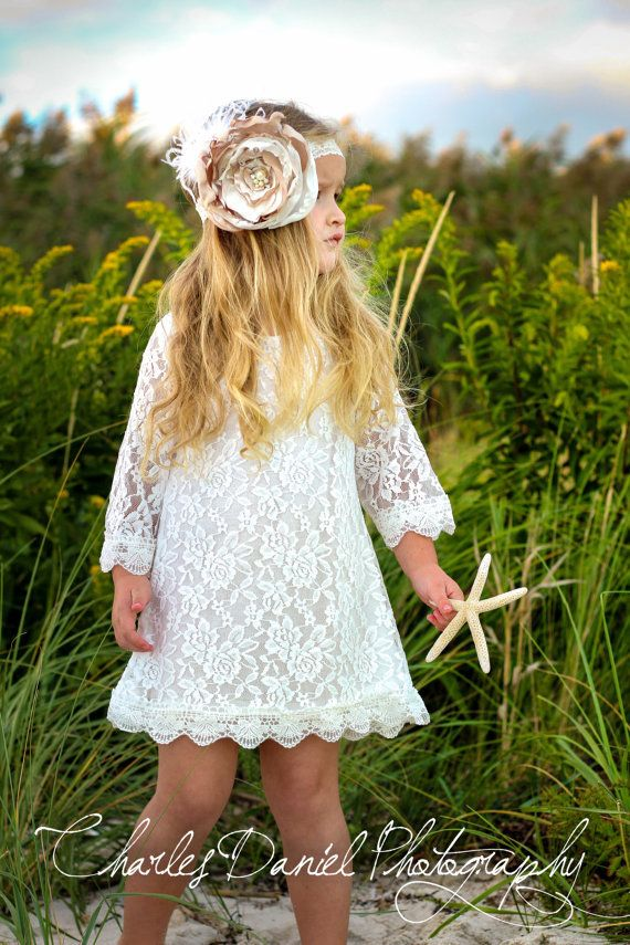2b305b463912 The Chloe Lace Flower Girl Dress - White