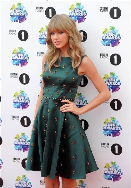 Taylor Swift attends BBC Radio 1's Teen Awards at Wembley Stadium in London on Nov. 2, 2013.