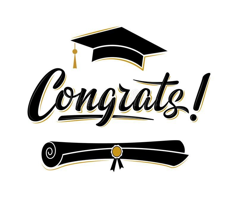 Congrats Greeting Sign For Graduation Party Class Of 2020 Academic Cap And Diploma Vector Design F Congratulations Graduate Greeting Sign Graduation Images