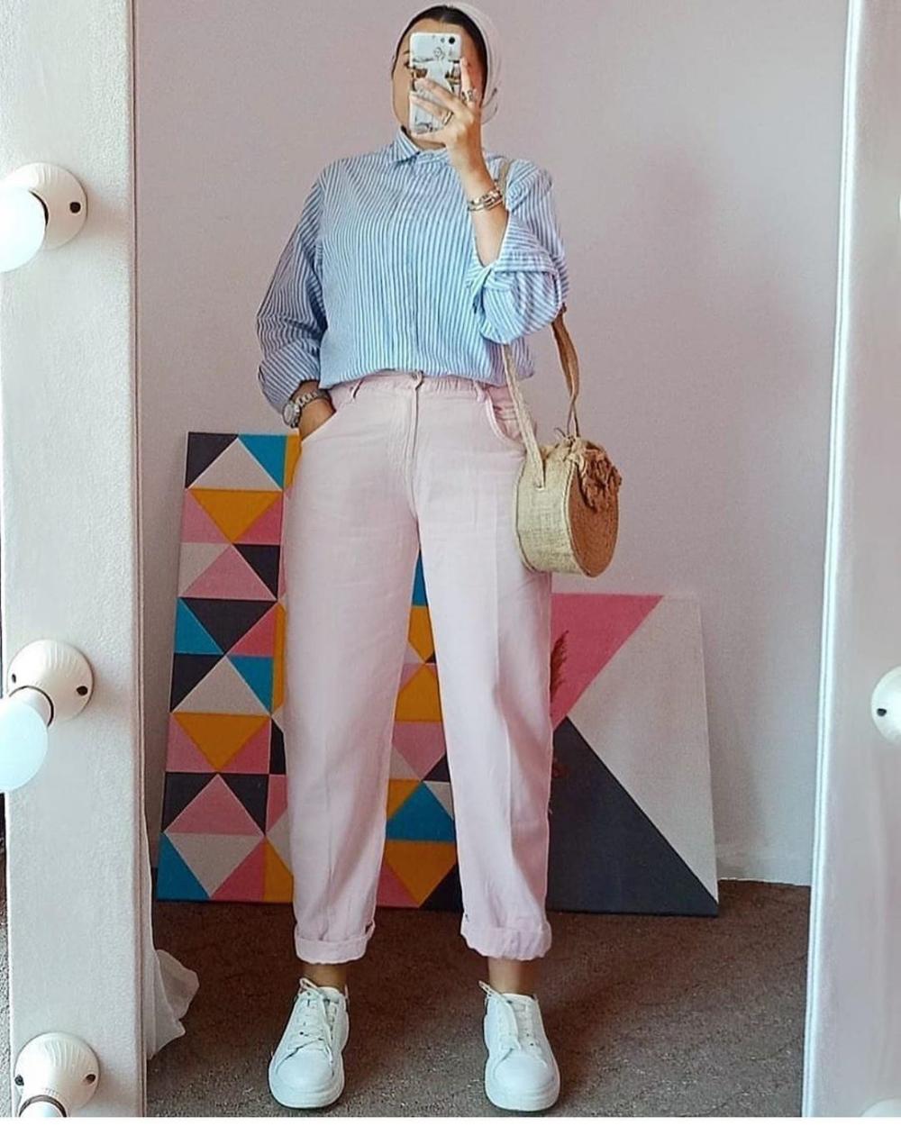 افكار بناطيل واسعه محجبات 2021 ملونة بناطيل قماش واسعة للبنات 2021 Fashion Pants Culottes