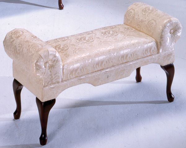 Traditional Ivory Boudoir Bench $145.90 | home | Living room ...