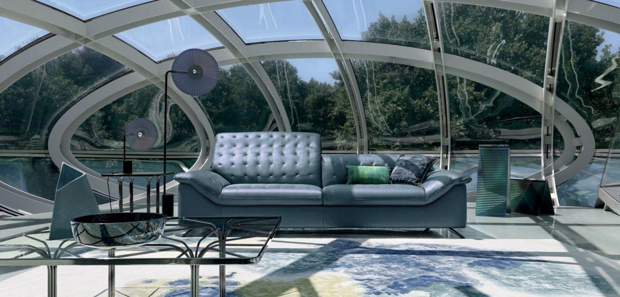Roche Bobois Escale Large 3 Seat Sofa Designed By Sacha Lakic