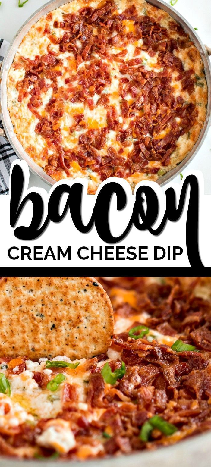 The Best Bacon Cheddar Cream Cheese Dip