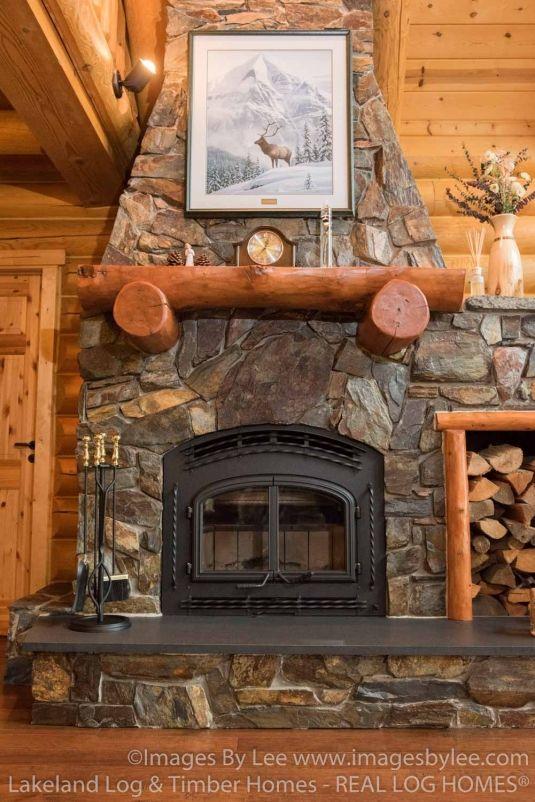 Huge cabin fireplace!