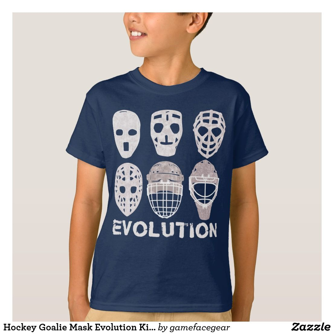 Hockey Goalie Mask Evolution Kids' Tee | Zazzle.com ...
