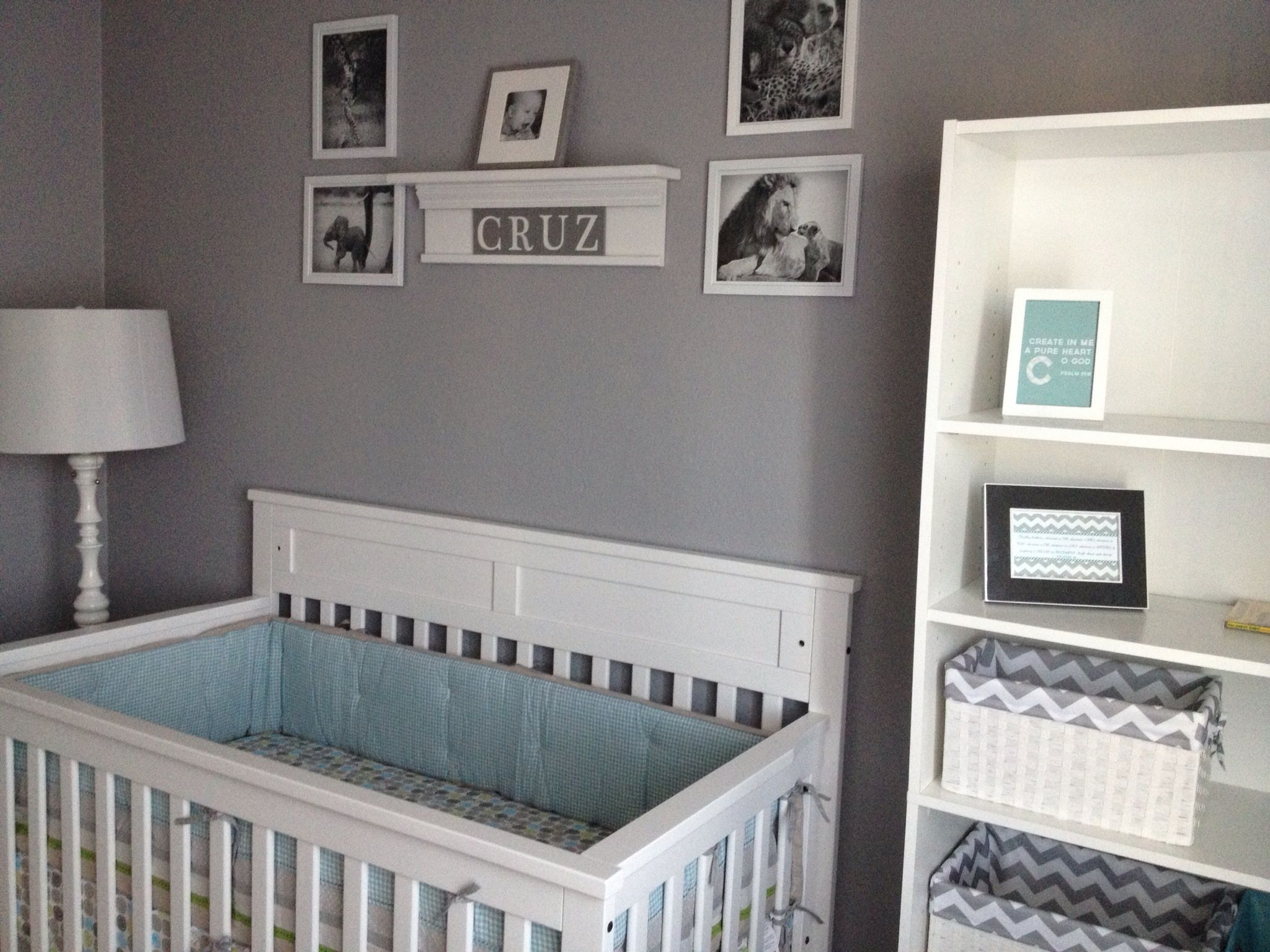 Baby Boy Nursery The Gray Blue And White Are Awesome