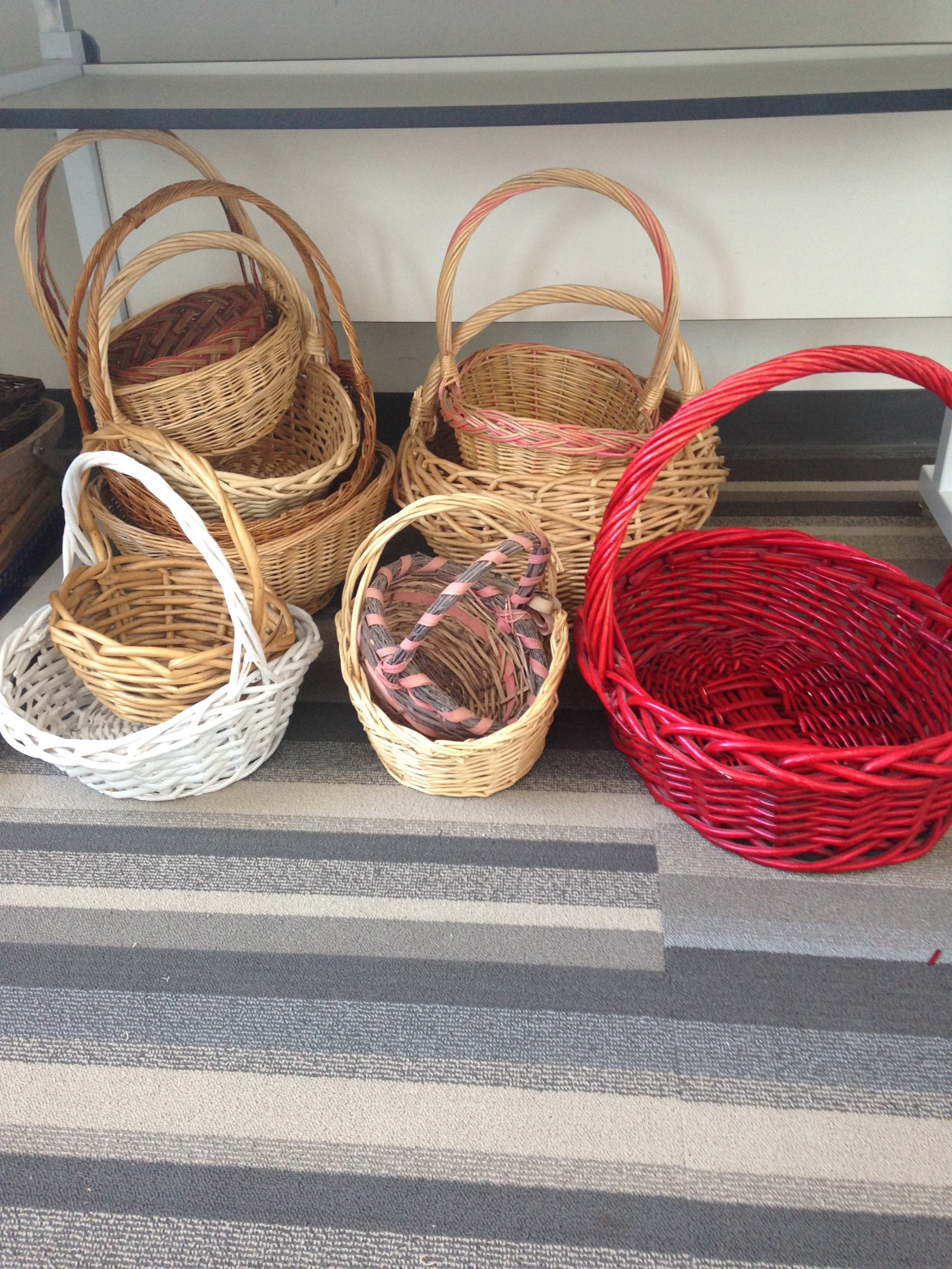 Some of the traditional shaped baskets.