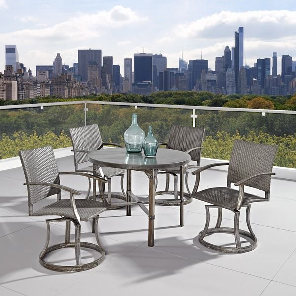 Urban Outdoor 5-piece Dining Set - Overstock™ Shopping - Big Discounts on Dining Sets