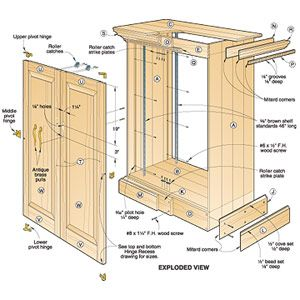 Wood Cabinet Plans httpwwwwoodesignernet has great guidance and