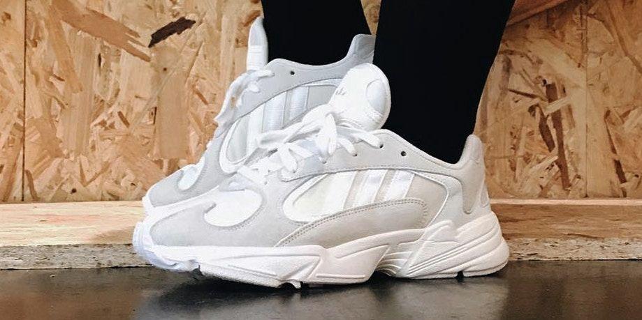 adidas Originals Yung 1 White Grey On-Feet Look  53d6ac459