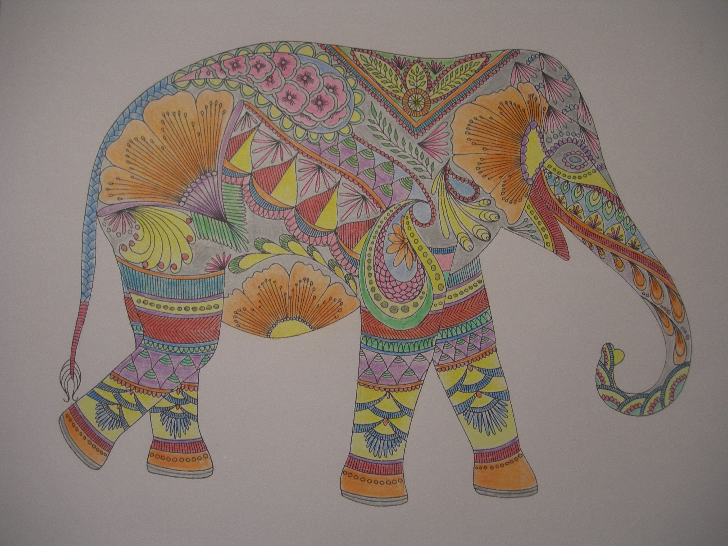 Coloring book animal kingdom - Design By Millie Marotta Millie Marotta Batsford Books Colouring Inadult Coloringcoloring Booksanimal Kingdomelephant