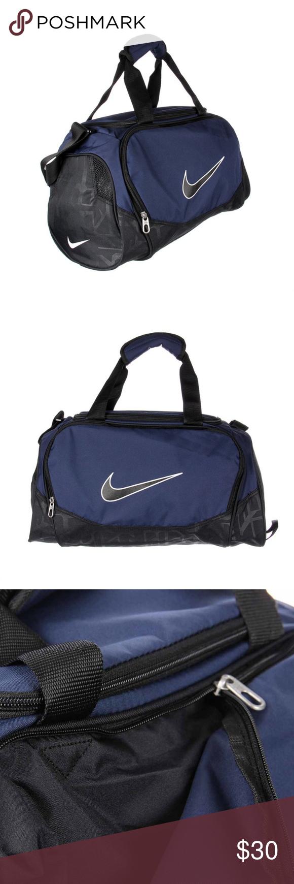 Nike BRASILIA 5 X-SMALL Duffel Bag Navy White Blk Nike Brasilia 5 X ... 2c0aed2bb3069
