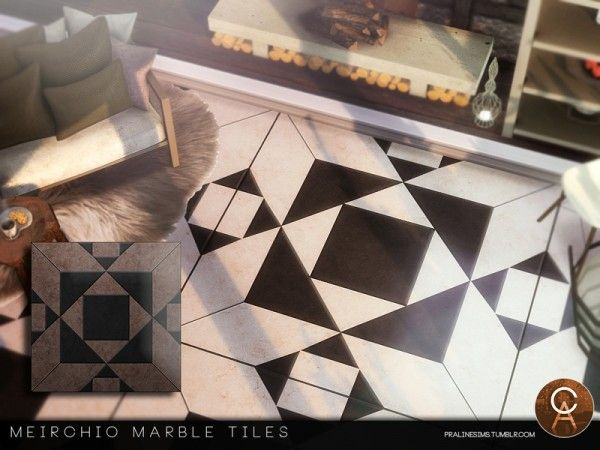 The Sims Resource Meirchio Tiles By Pralinesims Sims 4 Downloads Sims 4 Cc Furniture Sims 4 Sims