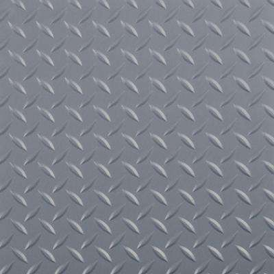 Diamond Tread 10 Ft X 24 Ft Slate Grey Commercial Grade Vinyl Garage Flooring Cover And Protector In 2020 Vinyl Garage Flooring Garage Floor G Floor
