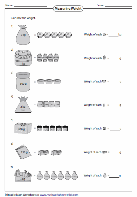 Weight Worksheets Measurement Worksheets Kids Math Worksheets Worksheets