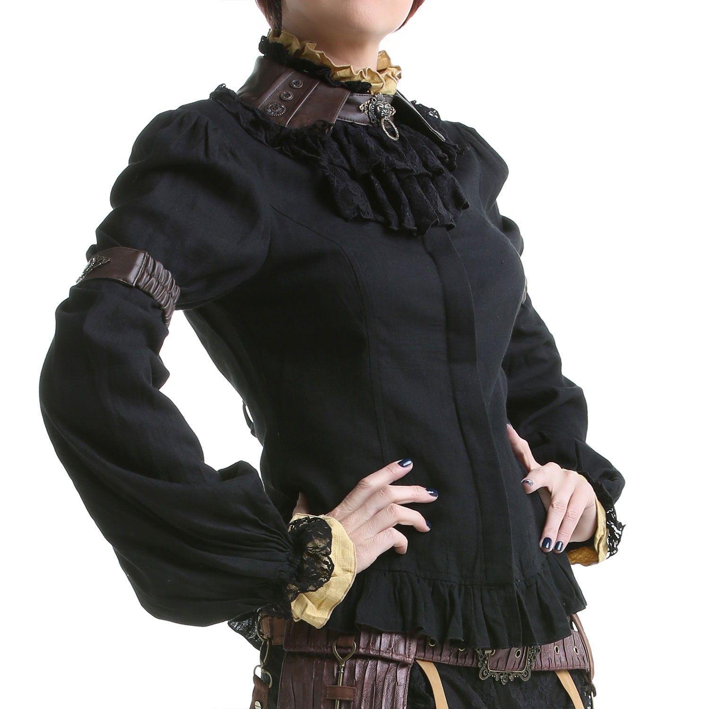 890e368b04 Camisa Steampunk Negra y Beige