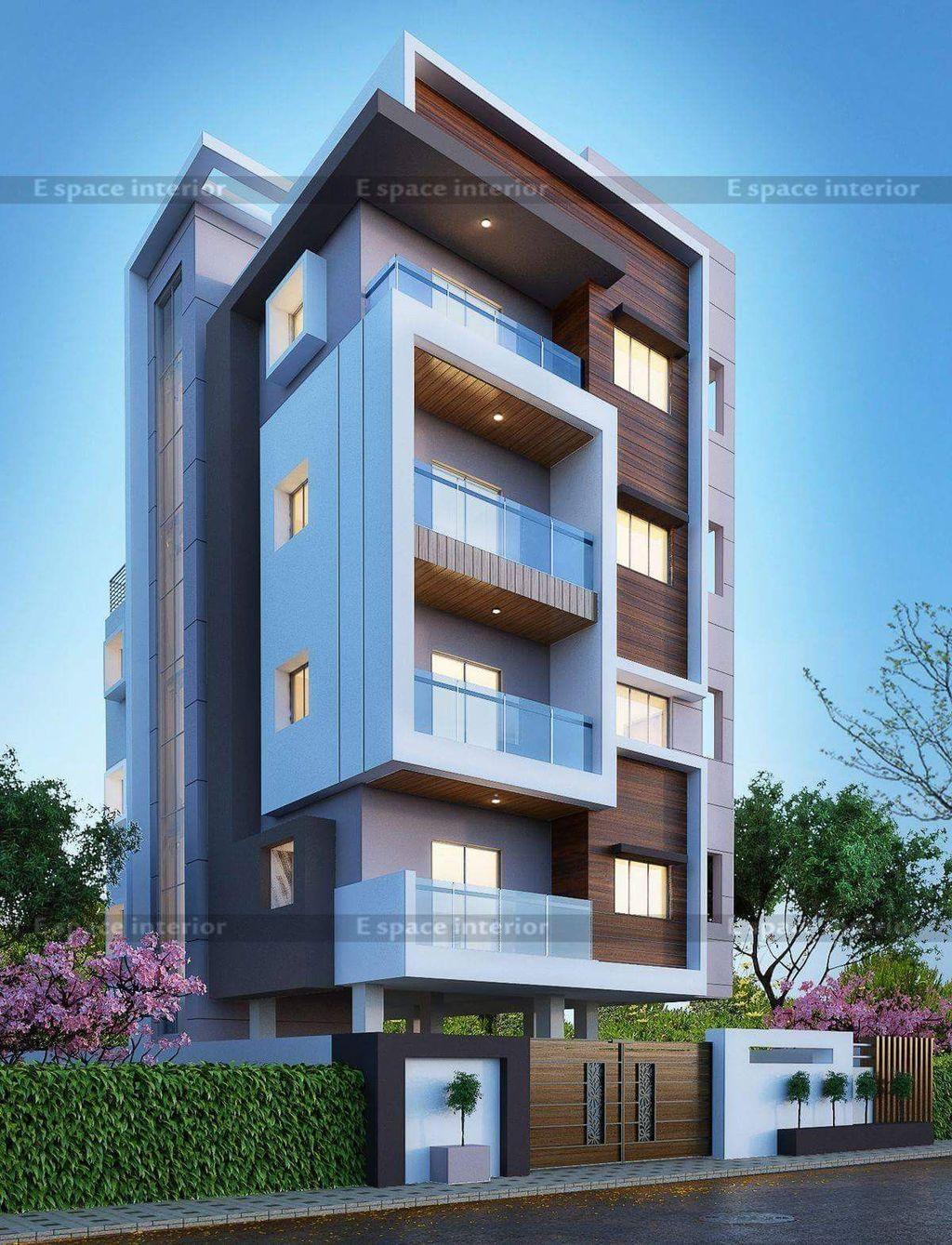 Cool 40 Amazing Apartment Building Facade Architecture Design More At Https Homishome Com 2018 09 15 40 Amazing Apartment Build House Kiến Truc Kiến Truc Sư