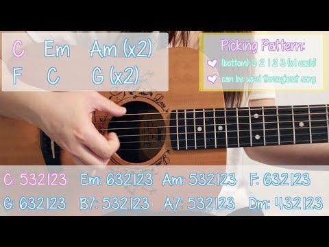 7) Learn 10 Easy Pop Songs (2017) Beginners Guitar Lesson - YouTube ...