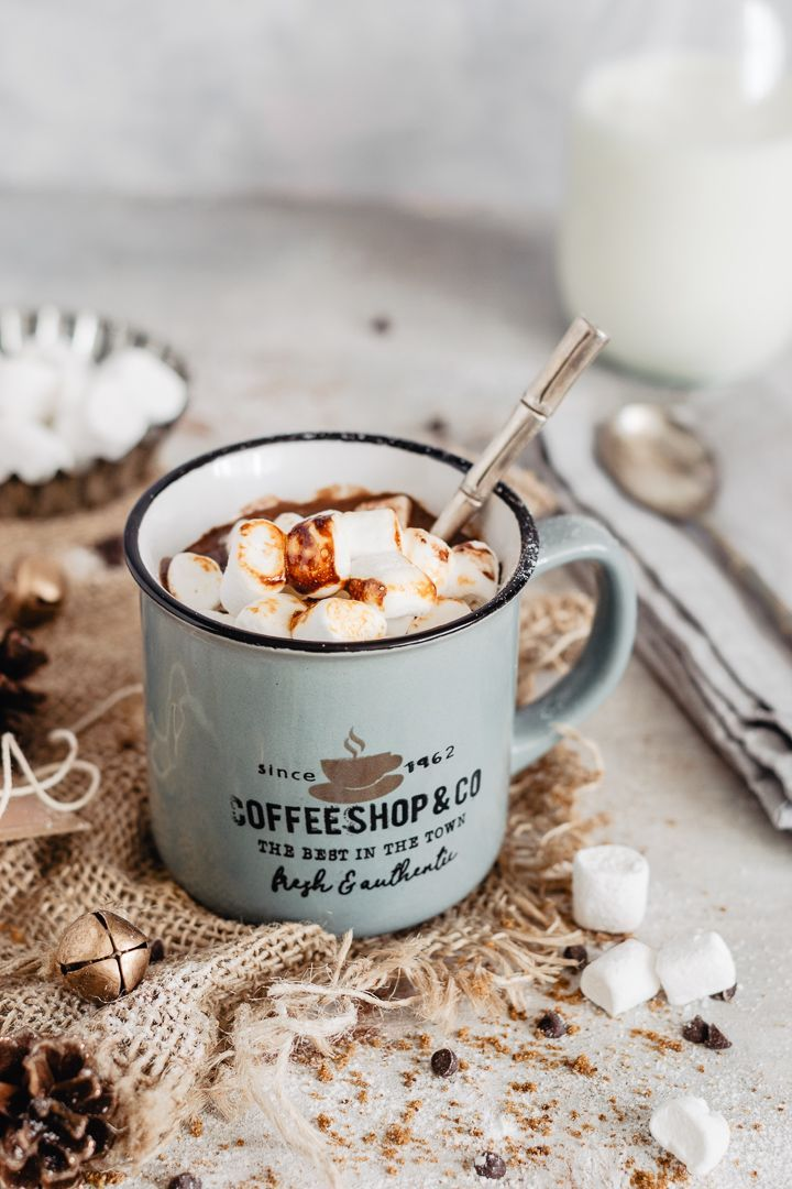Creamy hot chocolate #healthymarshmallows