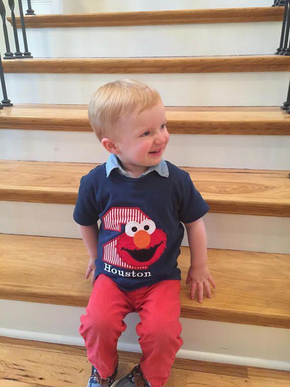 Boys Elmo Birthday ShirtSesame Street Shirt 2nd 1st Boy