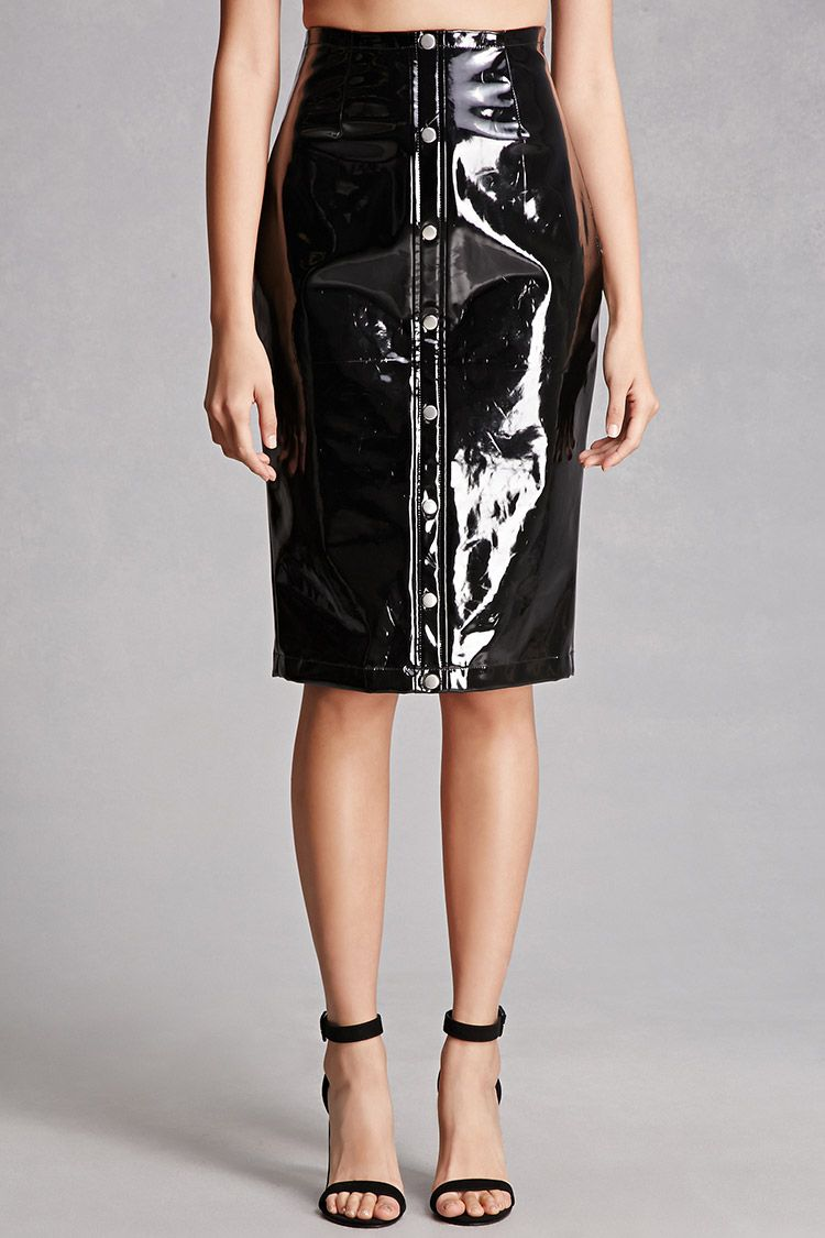 f837431f92228 Faux Patent Leather Skirts - raveitsafe
