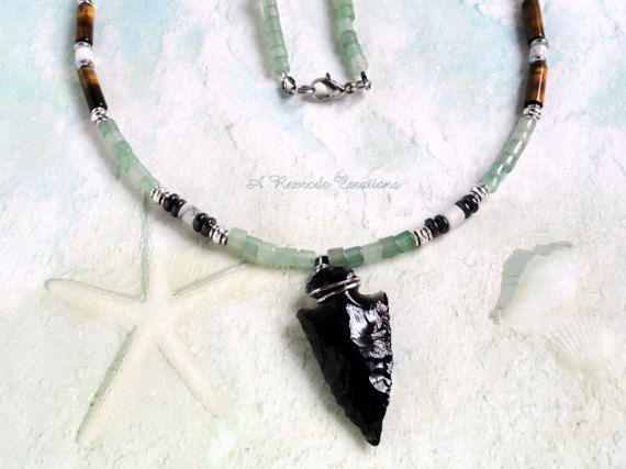 Arrow Head beaded necklace