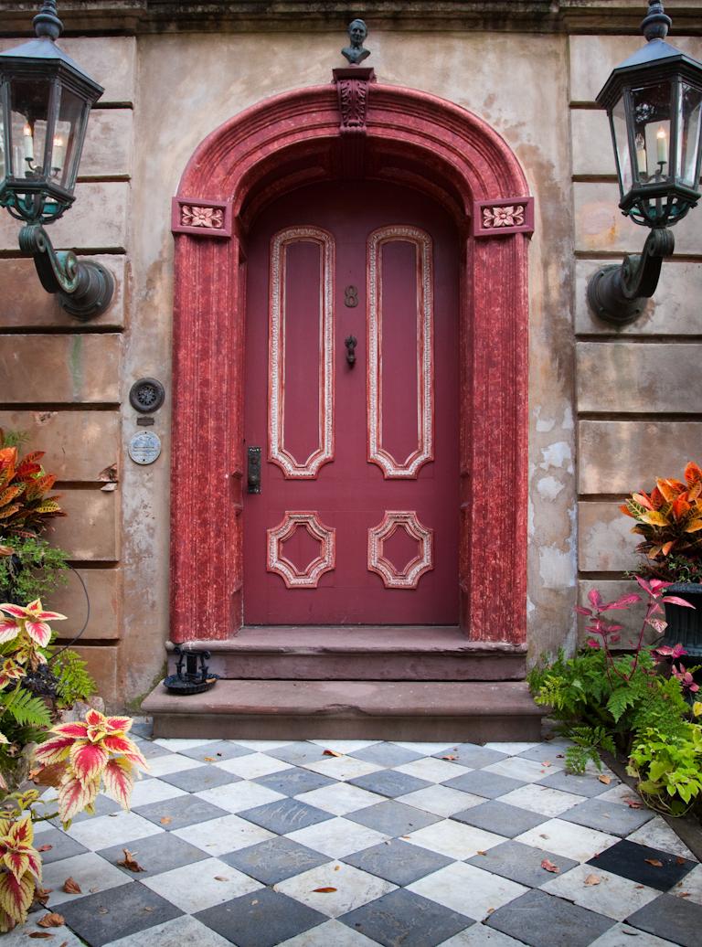 Ached Door with Large Lanterns, Charleston, SC· © Doug Hickok