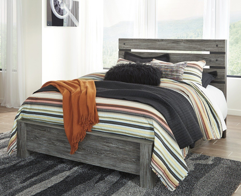 Ashley Cazenfeld E King panel Bed In Black/Gray * More