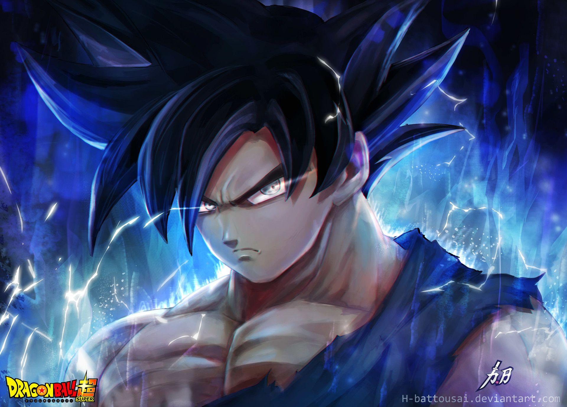 Fan Art Goku With New Form Power Awesome Anime Dragon Ball Dragon Ball Super Goku Dragon Ball Art