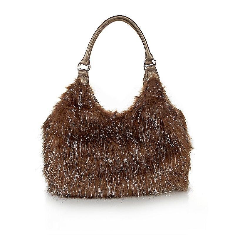 8332747b5fe Joan Boyce Faux Fur Metallic Bag at HSN.com at HSN.com   Handbags ...