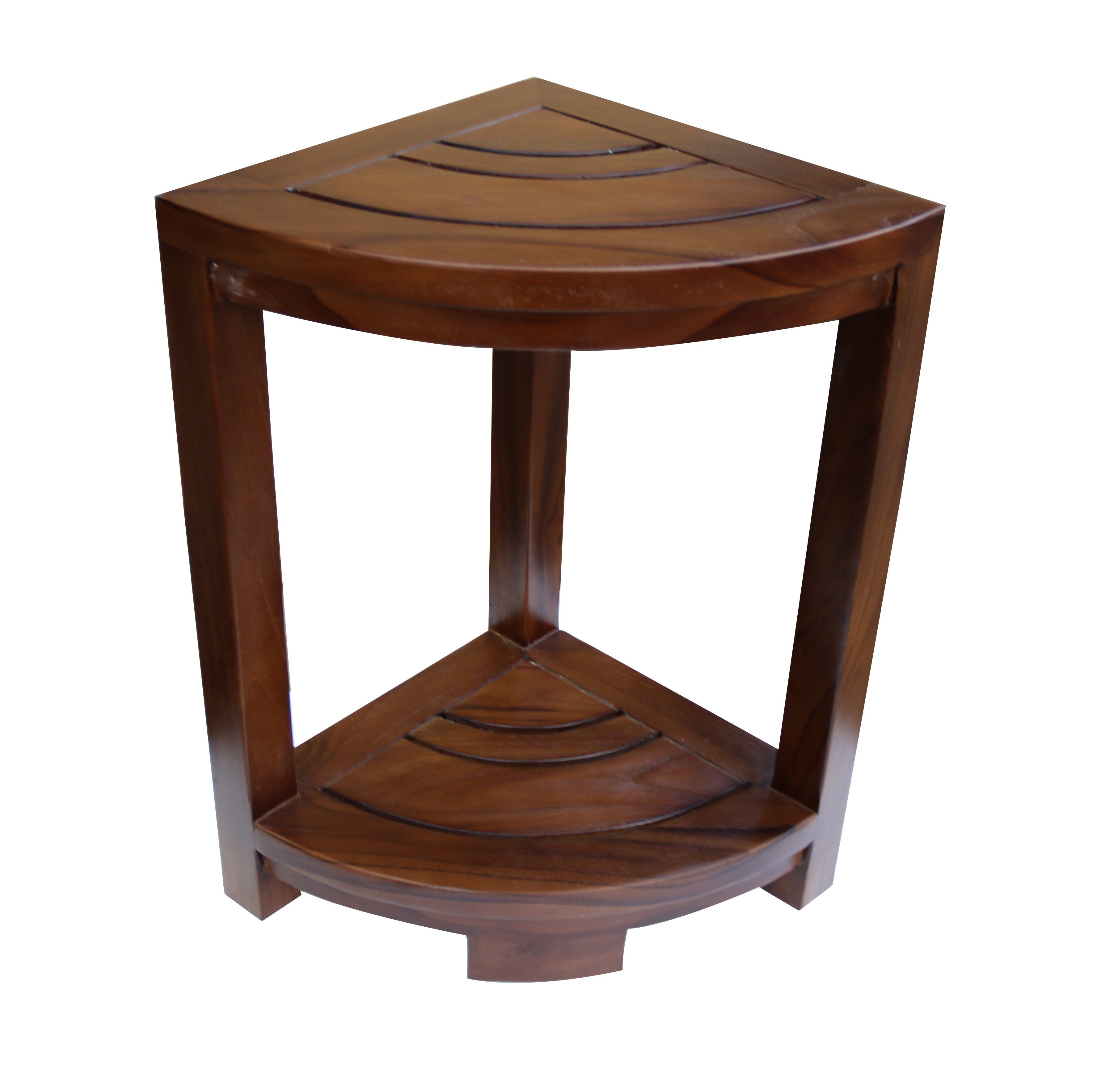 Strange Corner Teak Wood Bath Spa Shower Stool Corner Table Bench Gmtry Best Dining Table And Chair Ideas Images Gmtryco