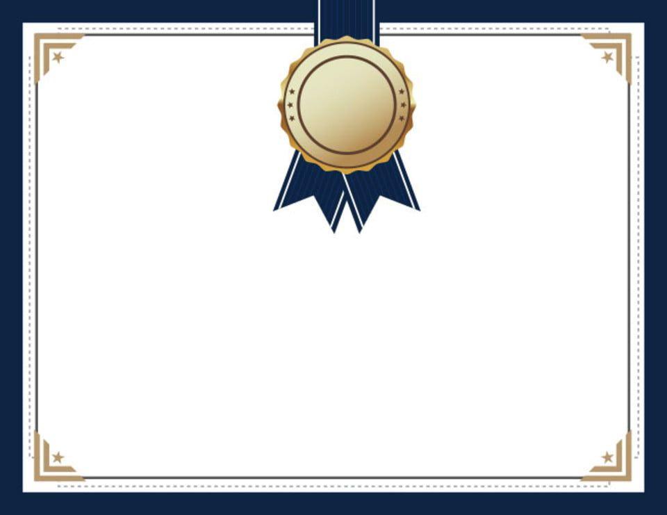 أزرق ميدالية ميدالية شهادة Certificate Background Certificate Design Template Poster Background Design