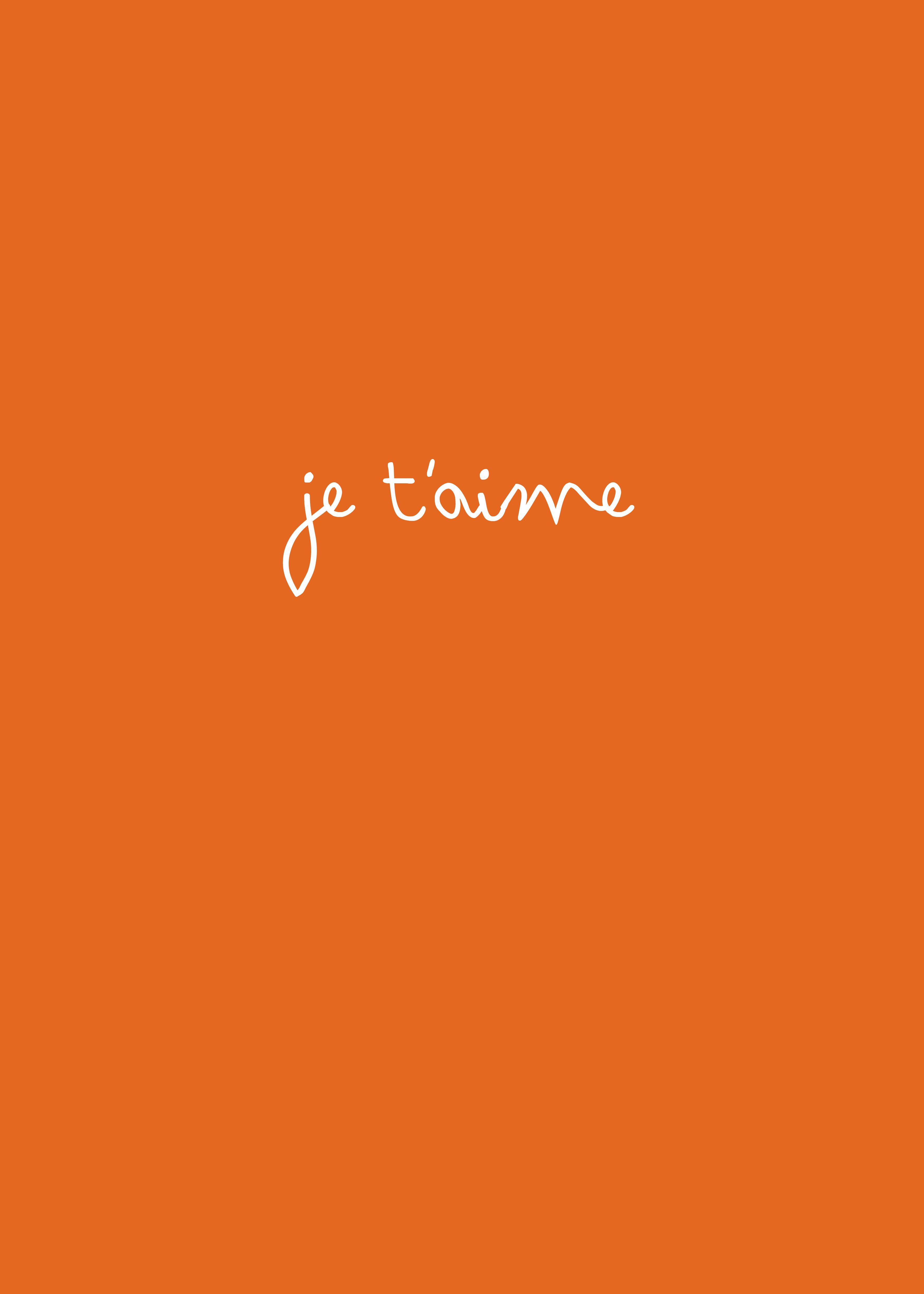 Orange french love quote ★ iPhone wallpaper Woorden, Oranje
