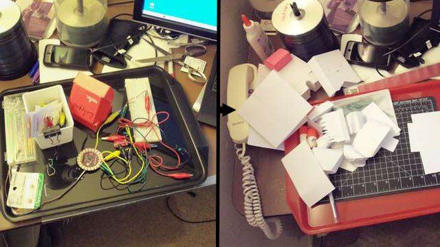 Big on Storage, Short on work area? DIY Desktops give way to fill them idle hands.