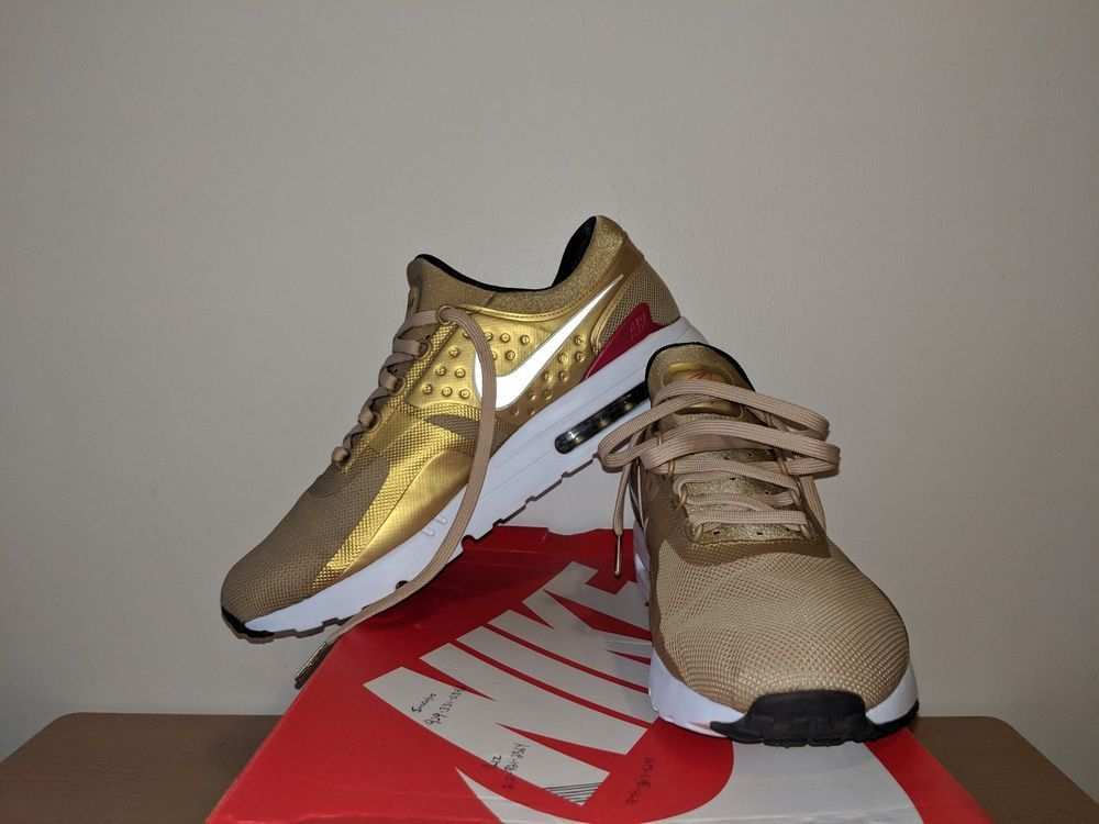 bbae7cc68e NIKE AIR MAX ZERO QS metallic gold varsity Red SHOES SIZE 13 789695 700  #fashion #clothing #shoes #accessories #mensshoes #athleticshoes (ebay link)