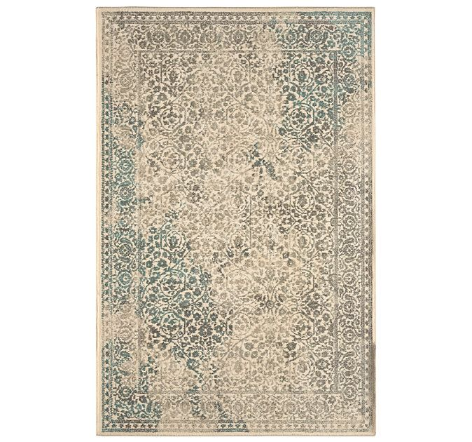 A Beautiful Rug That Boasts An Old Age Look With New Color Palette