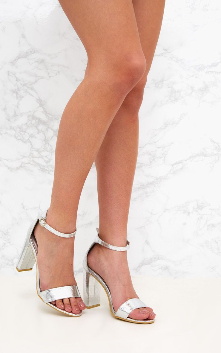 d0baa85ba23 May Silver Block Heeled Sandals | Let's get some SHOES in 2019 ...