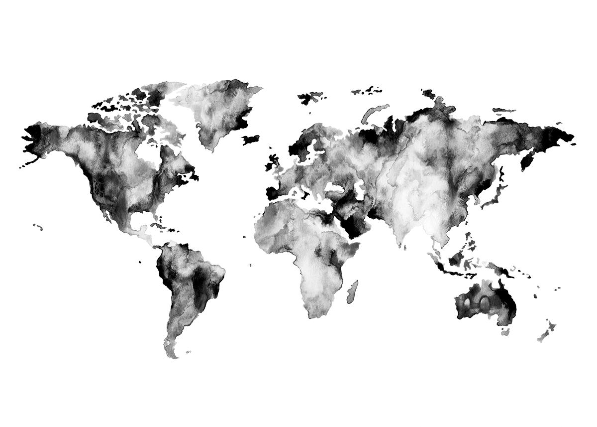 Miomo watercolor world map map design pinterest acuarela miomo watercolor world map gumiabroncs Gallery