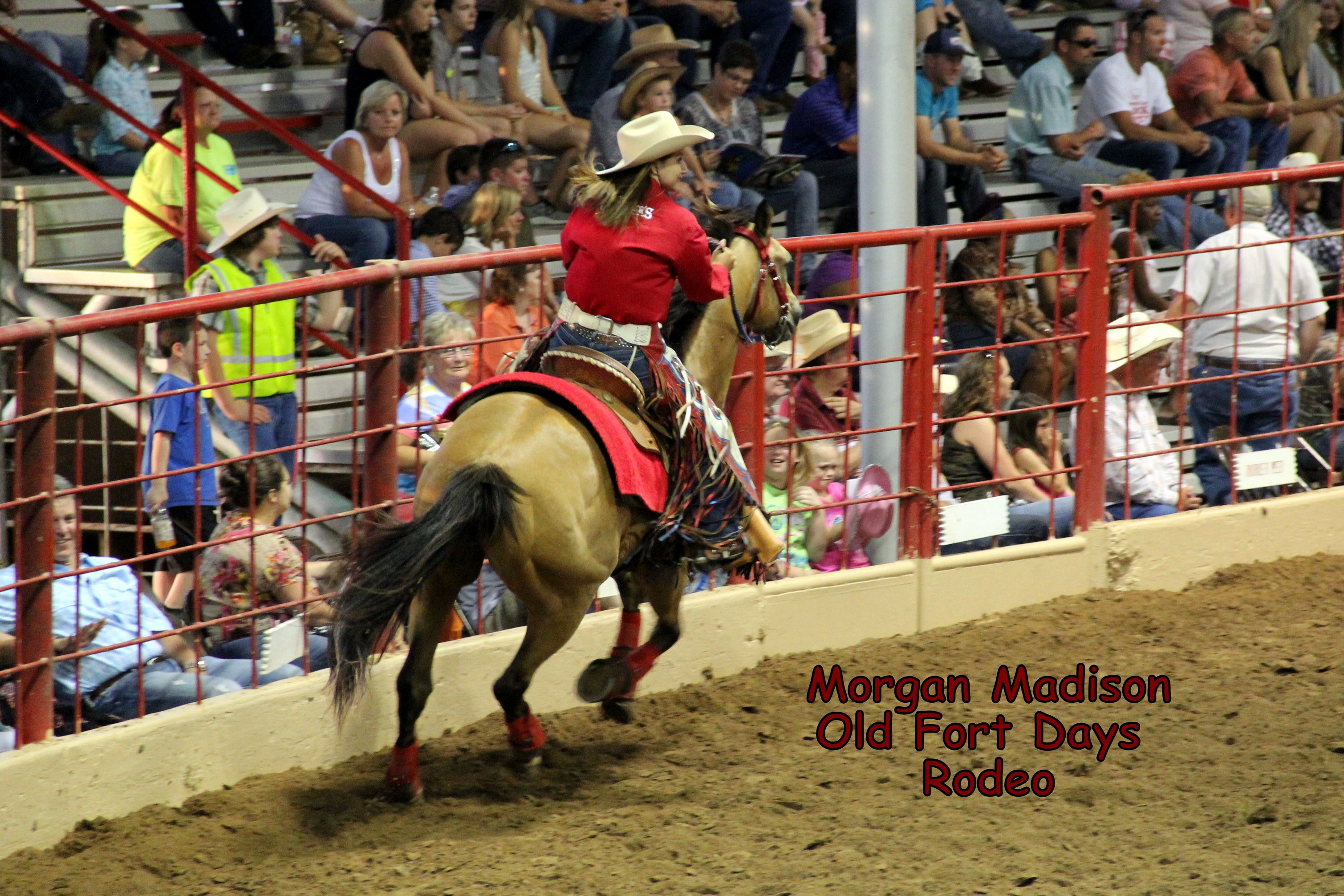 Morgan at the old fort days rodeo