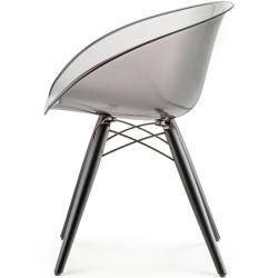 Photo of Pedrali Gliss 905 chair black stained green transparent Ped