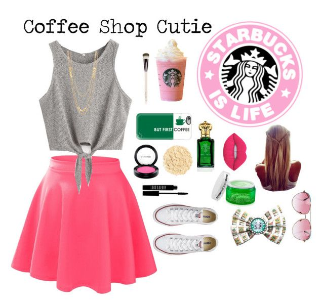 """Coffee Shop Cutie"" by soccer177 ❤ liked on Polyvore featuring LE3NO, Casetify, MAC Cosmetics, Clive Christian, Lord & Berry, Illamasqua, Peter Thomas Roth, Converse, Gorjana and Lime Crime"