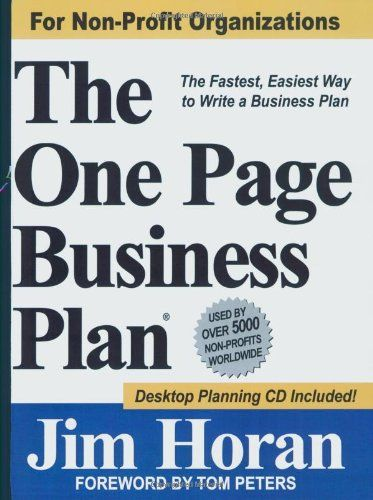 The One Page Business Plan for Non-Profit Organizations by James T